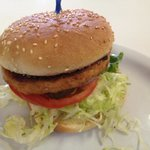 Judy&#39;s Salmon Burger