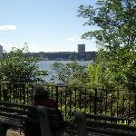The Hudson river from the park