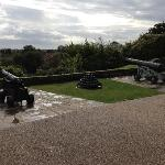  Canons at back of tower