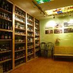 Shelves of beers from around the world