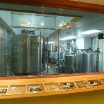 A view inside the brewery