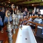The coolest beer taps and sink basin