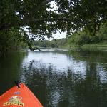 Paddling down the Colorado out of Bastrop