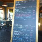  The Blackboard menu  of specials the waitress brings to you to help you choose