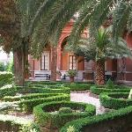 The garden and courtyard of the Monastery.