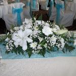 Top table flowers as part package.