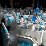 The room - we had chair covers & table decs from a separate company, but made the room special.
