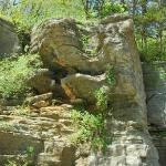 Beautiful rock formation in Eureka Springs