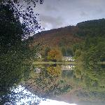  View across the loch to the house (the one on the left)