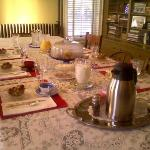 Gourment Breakfast provided by Sue