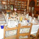 Main dining room set for breakfast