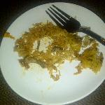 WORM IN BIRIYANI