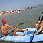  In canoa al mare