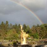 There was even a rainbow to welcome me at Samye Ling ! How auspicious is that !