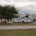 Our RV on the pull through hard stand.
