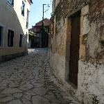 Narrow street in village