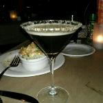martini and shrimp yummy