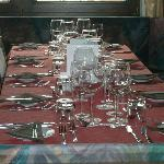 Table set for evening meal