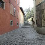 the street with steps Via della Noca