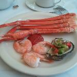 Seafood selection for brunch