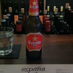 Estrella Damm at the bar of Espana Restaurant
