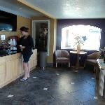 Lobby and breakfast counter