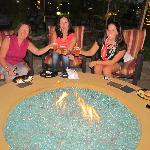  relaxing at the fire pit