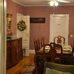 From living room into dining room