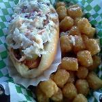  Carolina Dog n Tater Tots with Cheese, delish!
