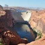 glen canyon dam from the viewpoint