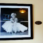 late marilyn monroe's photo and room number