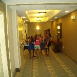 My daughter and her friends going to their room.