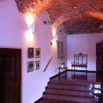 Hall between reception & dining room