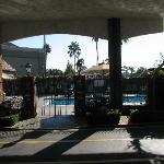 View of Pool Area from Front Desk