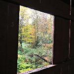  Looking out from a covered bridge