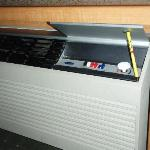 Old warn out air conditioner. It worked part of the time.