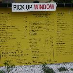 Menu board outside (not the full menu)