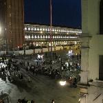 Night time view from room over St Mark's Square