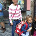 Our host Francesca and her darling daughter off to school