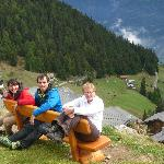 enjoying the view at Berrmeralp