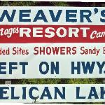 Weaver's Resort sign