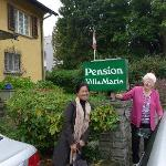 Outside the Pension with Maria
