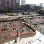 Crazy golf and tennis courts at Turmalina Apartments.