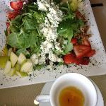 Tuscan Orchard Salad & Organic Raspberry Truffle Tea (all gone!)