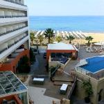 View of the hotel and beacharea from the balcony