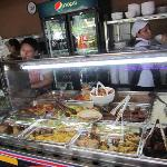 Cold food selection like various types of salads