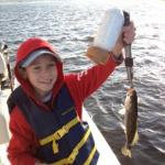Our son with his speckled trout