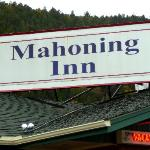 Sign on top of motel