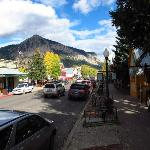 View of Main St. and the Crested Butte as you depart