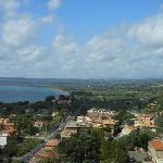 Above Bolsena, view from Castle